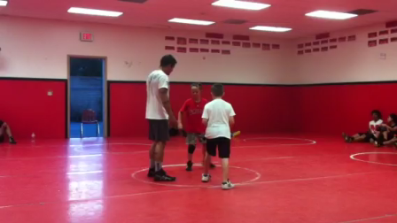 Wrestling practice with Pujols shirt!