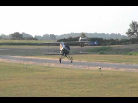 Staggerwing & Laird Speedwing Departure & Pass from the Poplar Grove Airport