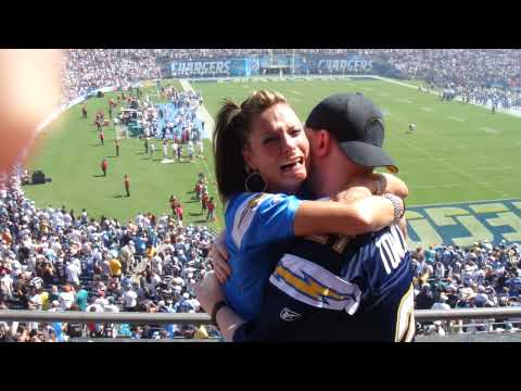 Greatest Proposal Reaction at the Chargers Game
