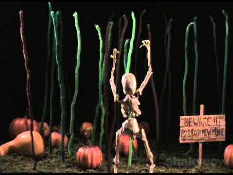 Beware. There's a Skeleton in a Pumpkin Patch - Stop Motion Animation by Shakycow.