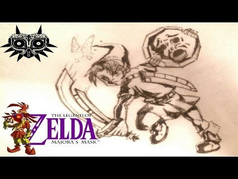 zelda majoras mask speed drawing timelapse stop motion