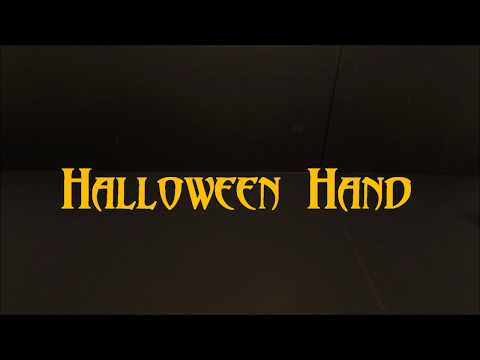 Halloween Hand :  Stop Motion Animation
