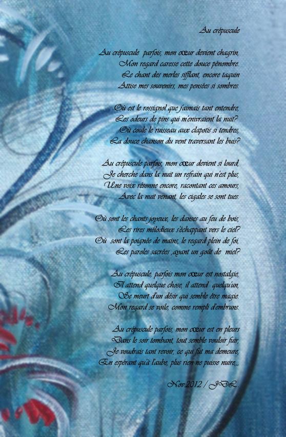 Crépuscule Lâme Au Coeur Interprétations Peinture Poésie