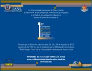 1er Congreso Internacionalde Investigación Educativa RIE UANL
