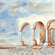 Paros Landscapes, Architecture & Flowers: aquarelles by Yorgos Vouros
