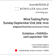Wine Tasting Party at Achillea Gallery