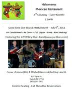 Habaneros Blues Night - 2nd Saturday of the Month