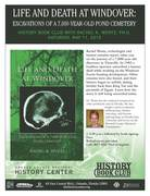 """""""Life and Death at Windover: Excavations of a 7,000-Year-Old Pond Cemetery"""" History Book Club with Rachel K. Wentz, Ph.D."""