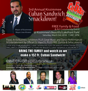 Kissimmee Cuban Sandwich Smackdown is set for Saturday, March 3rd, 2018 (3rd Annual)