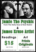 Jamie the psychic and James kruse Art event!