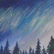 Acrylic Painting Class - Northern Lights