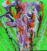 """Action Painting-Dripped and Thrown Art"" by Del Cain Exhibit"