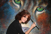 Wild and Whimsical Exhibition by Elizabeth Romhild, painting