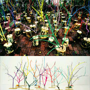 นิทรรศการจัดวางและภาพเขียนหมึกจีน: Outdoor installation & Chinese ink painting by Gi-ok Jeon
