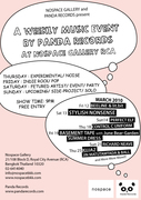 A Weekly Music Event by Panda Records @ Nospace Gallery: March 2010