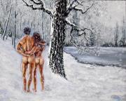 Adam et Eve chez le dentiste.