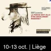28° biennales internationales de la poésie au Palais des Congrès de Liège