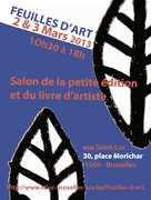 Feuilles d'art le salon de la petite edition et du livre d'artistes à Bruxelles