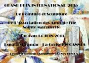 Jacqueline Morandini à l'exposition Grand Prix International de Peinture et de Sculpture à Cannes