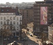 A voir pour le plaisir des yeux ! Le tableau monumental de Guillaume Bottazzi, Place Jourdan à Bruxelles