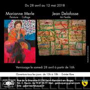 Exposition de Marianne Merle et Jean Delafosse