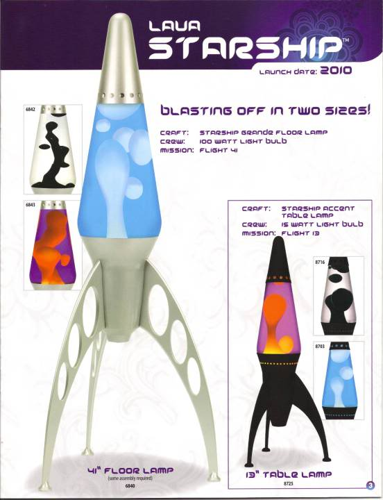 "2010 Ad For 41"" & 13"" Starships"