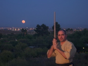 Hasso kamae at moonrise