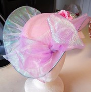Pink See-Through Satelitte Hat (Top)