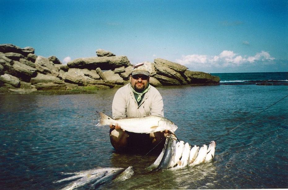 Pesca Costera Mexcico. (surf fishing con señuelos).