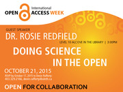 Doing Science in the Open by Dr. Rosie Redfield