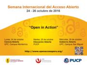Open Access Week Perú 2016 / Semana del Acceso Abierto Perú 2016