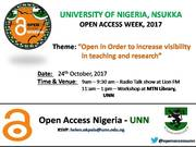 UNN Open Access Week