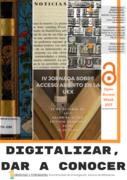 IV Jornada de Acceso Abierto en la UEX: Digitalizar para dar a conocer