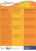 Die Internationale Open Access Woche 2017 in der UA Ruhr