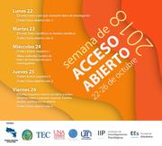 Semana de Acceso Abierto 2018 CONARE - Costa Rica
