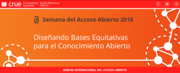 Semana Internacional del Acceso Abierto 2018 en España
