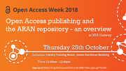 Open access publishing and the ARAN repository - an overview