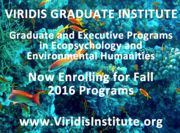 Applications Now Being Accepted Through August 1—Ecopsychology Grad Programs at Viridis Institute
