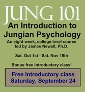VIDEO REPLAY 90-MINUTE ONLINE CLASS: Jung 101: An Introduction to Jungian Psychology—Lead-In to an 8-Week College Level Course with James Newell