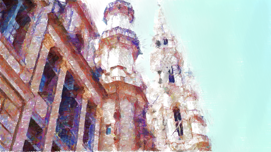 The towers of the  city hall of Brussels on the Grand Place, Belgium