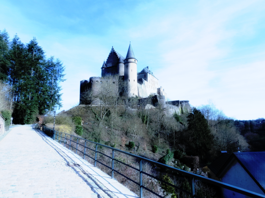 The castle of Vianden, Luxembourg
