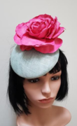 Mint Button Fascinator