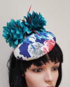 Teal Button Fascinator