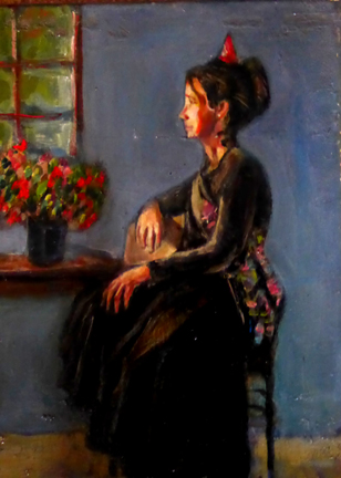lady at window