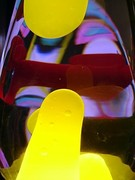 3rd run yellow close up with cool reflections
