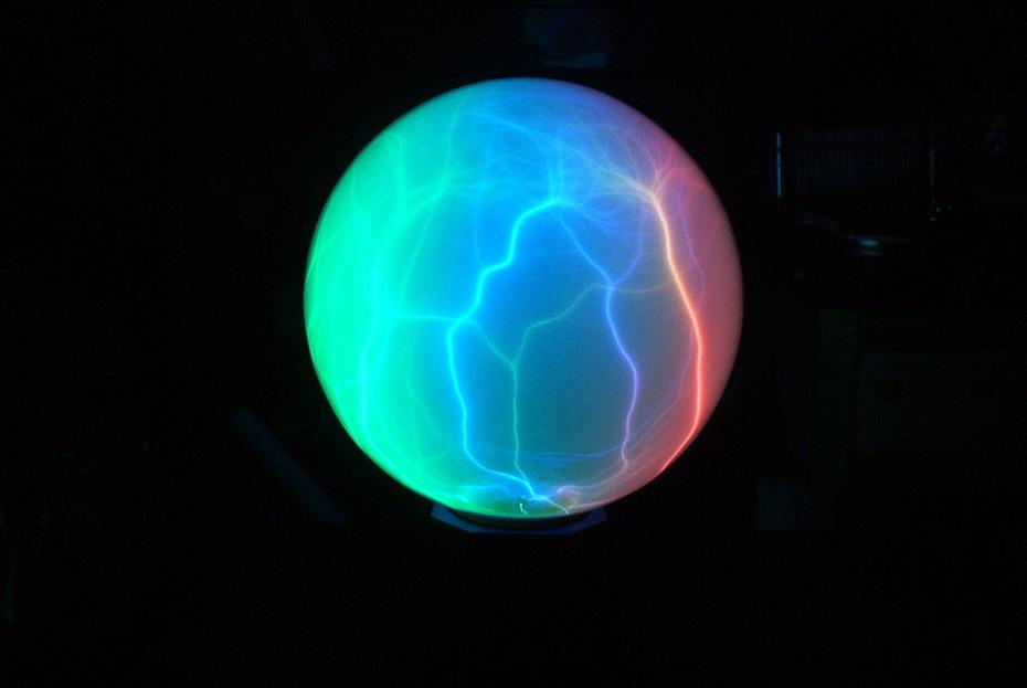 Color changing Plasma ball 2