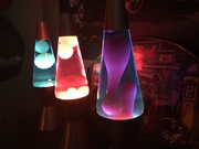 some lava lite lamps