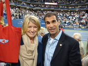 Martha Stewart and Me at 2007 US Open !