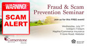 Fraud and Scam Prevention Seminar
