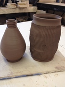 Samples for today's class- Bridges Pottery
